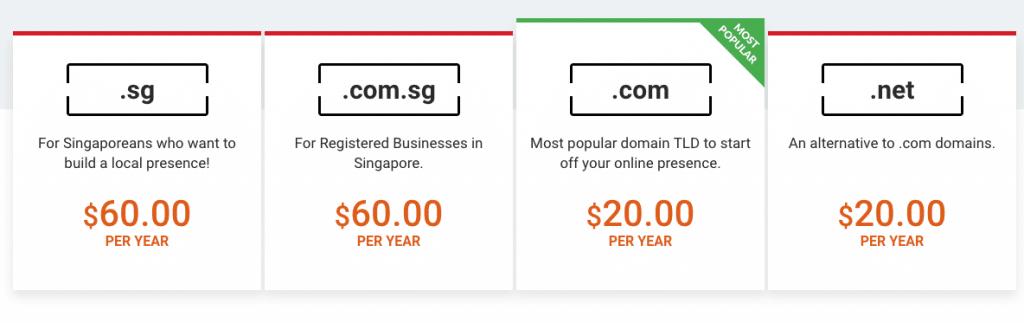 domain cost singapore