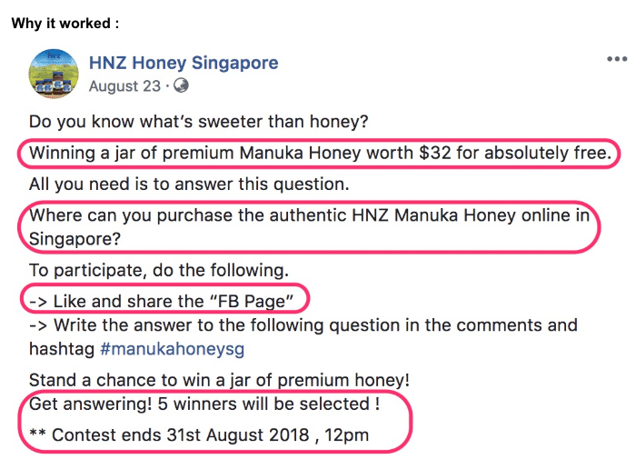 examples of fb copywriting singapore