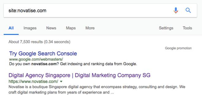 novatise google web console